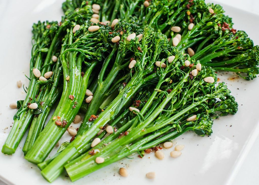 broccolini-with-roasted-garlic-oil-and-pine-nuts