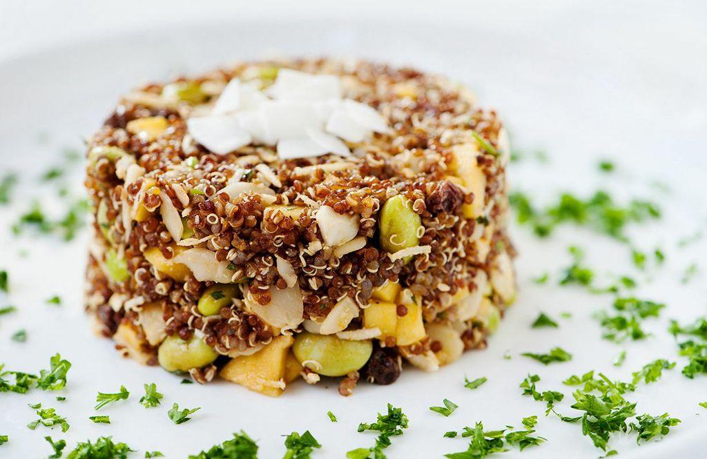 quinoa-salad-with-mango-coconut-edamame-raisins-and-almonds
