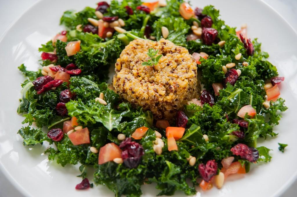 quinoa-with-raw-kale-salad