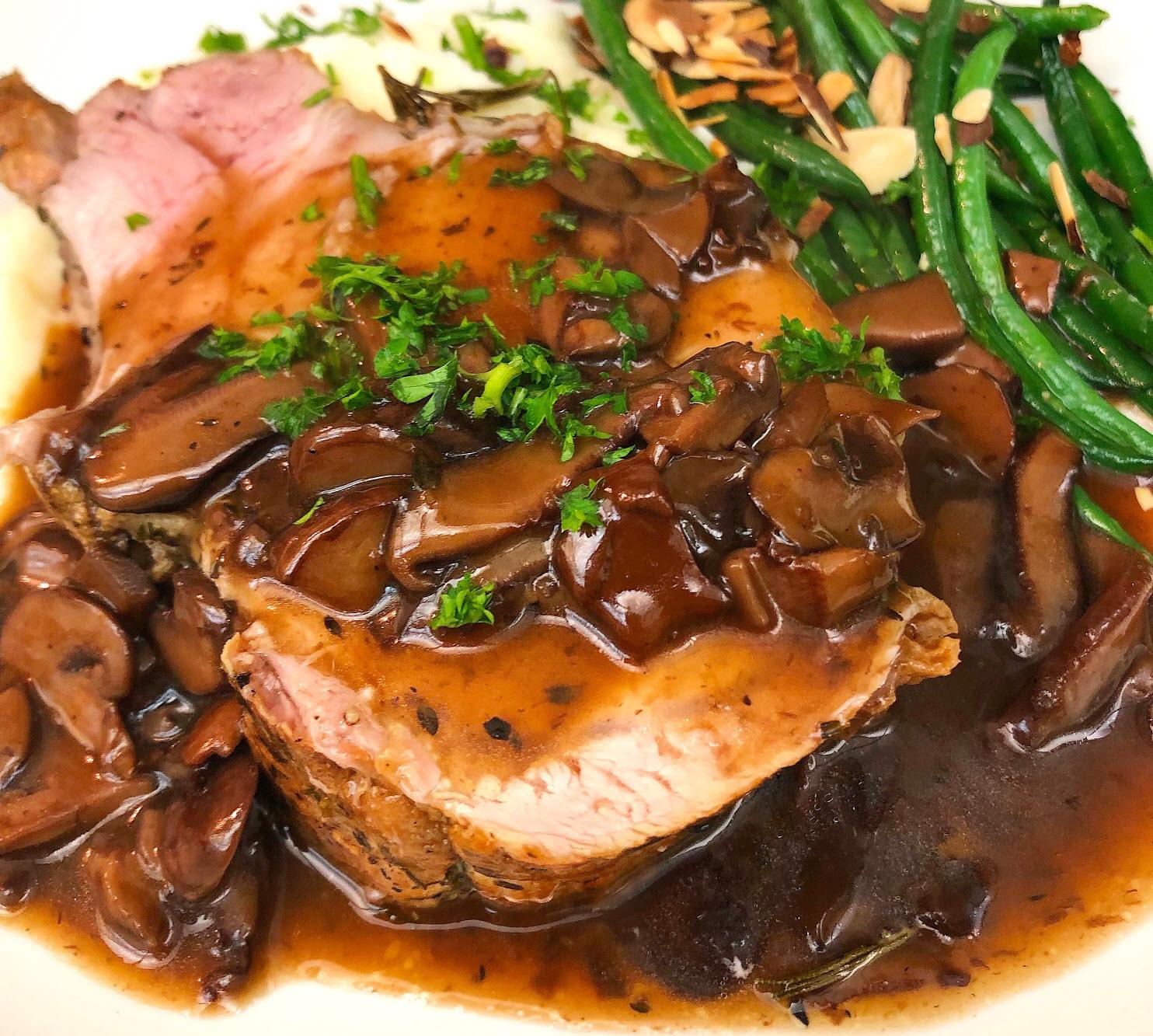 rack-of-pork-with-mushroom-madiera-wine-sauce