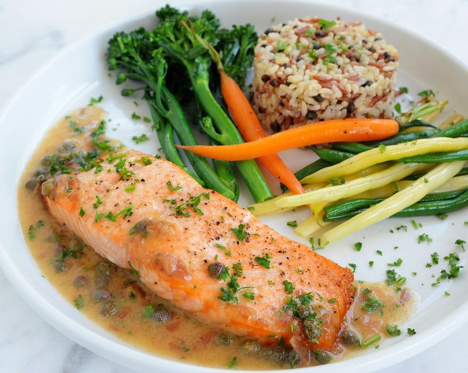 roasted-salmon-with-lemon-butter-caper-sauce