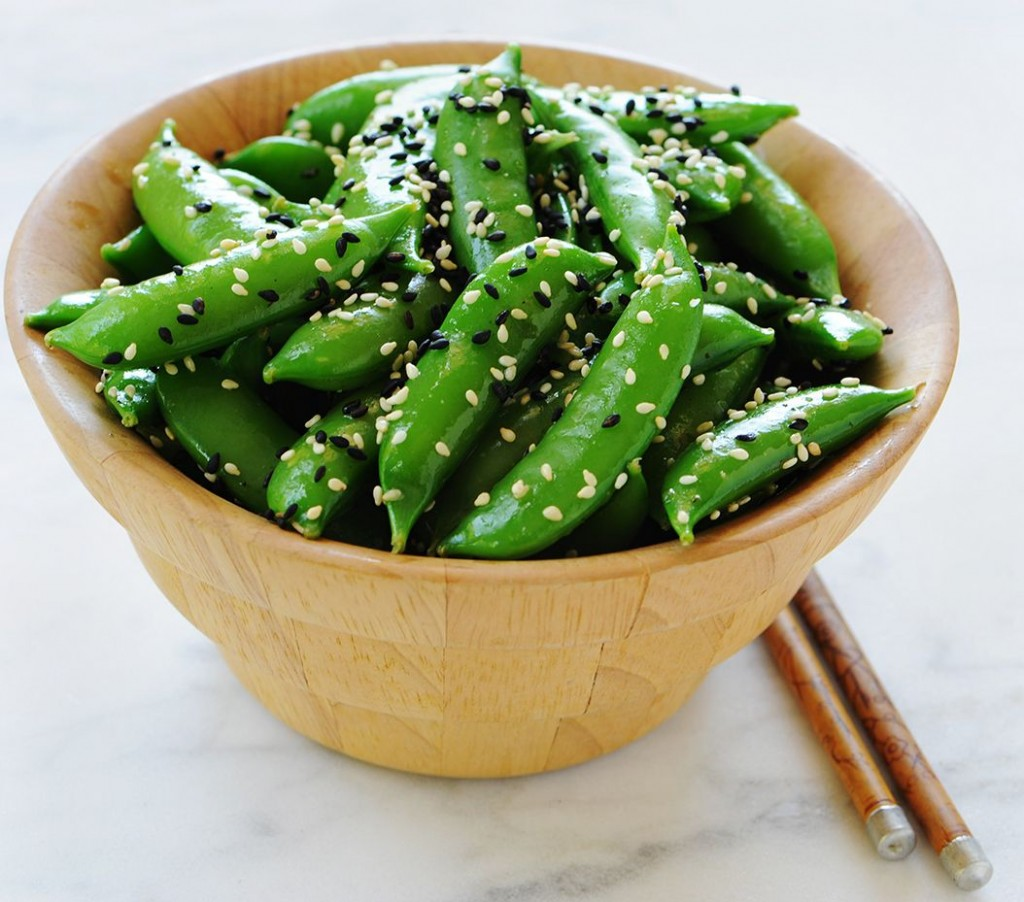 sugar-snap-peas-with-sesame-seeds