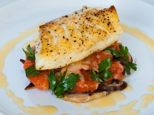 halibut-with-grapefruit-red-onions-and-shiitake-mushrooms