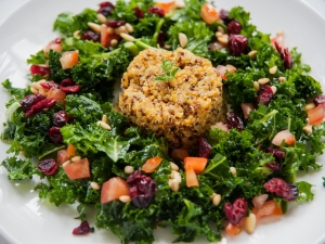 quinoa-with-raw-kale-salad