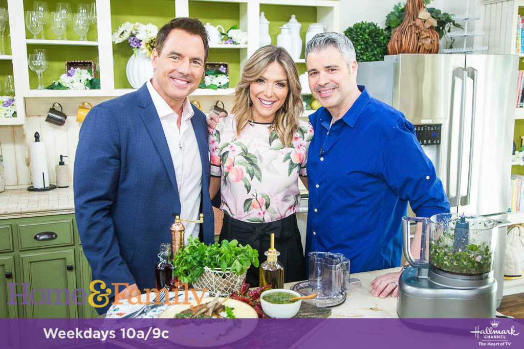 "Mark Steines and Debbie Matenopoulos welcome actor Peter Porte from the Hallmark Channel original movie, ""Love, Once and Always."" Country singer Craig Morgan, his wife Karen, and his daughter Aly from Up TV\'s"