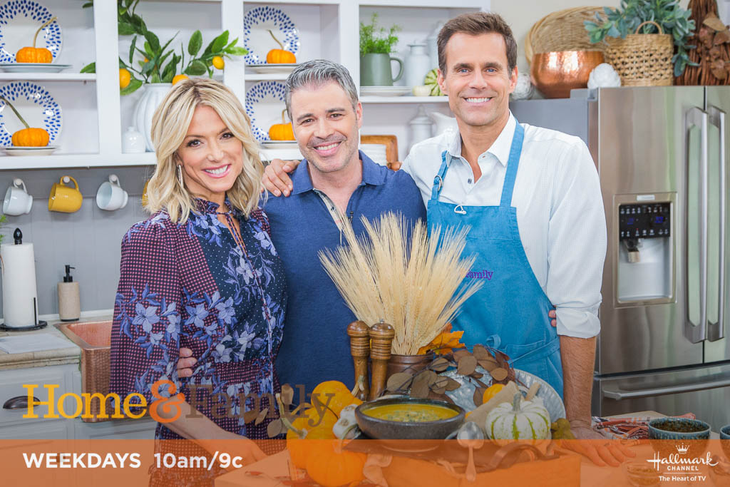 "Debbie Matenopoulos and Cameron Mathison welcome ""Ultimate Cowboy Showdown"" stars, J Storme Jannise and Tara Powers. ""Entertaining with Beth"" host, Beth Le Manach bakes a pear spice cake. Chef Marcel Cocit prepares pumpkin soup. ""Up and Running"" author, Jami Marseilles visits our home. Captain Branden Silverman of the Los Angeles Fire Department shares important fire safety information for the whole family. Paige Hemmis creates corn vases. Kym Douglas is here with super scrubs for exfoliation. Ken Wingard and Balsam Hill's Mac Harman design a fall porch. Maria Provenzano shows us DIY beanie bottle toppers. Our family members answer viewer questions.   Credit: © 2019 Crown Media United States, LLC 
